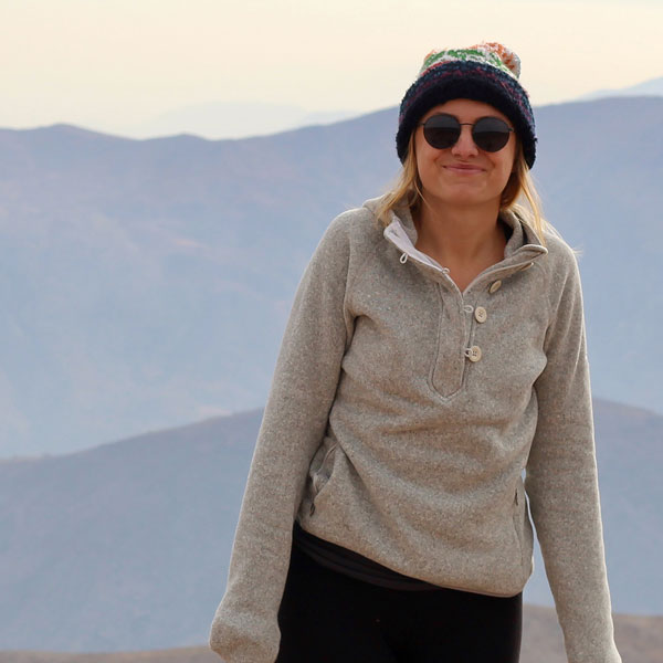 Ali Ryan-Mosley in the Andes