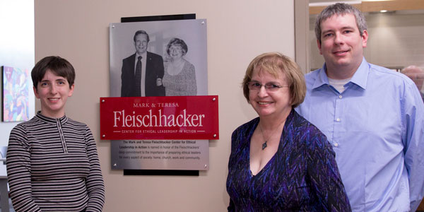 Dedication of The Fleischhacker Center for Ethical Leadership in Action